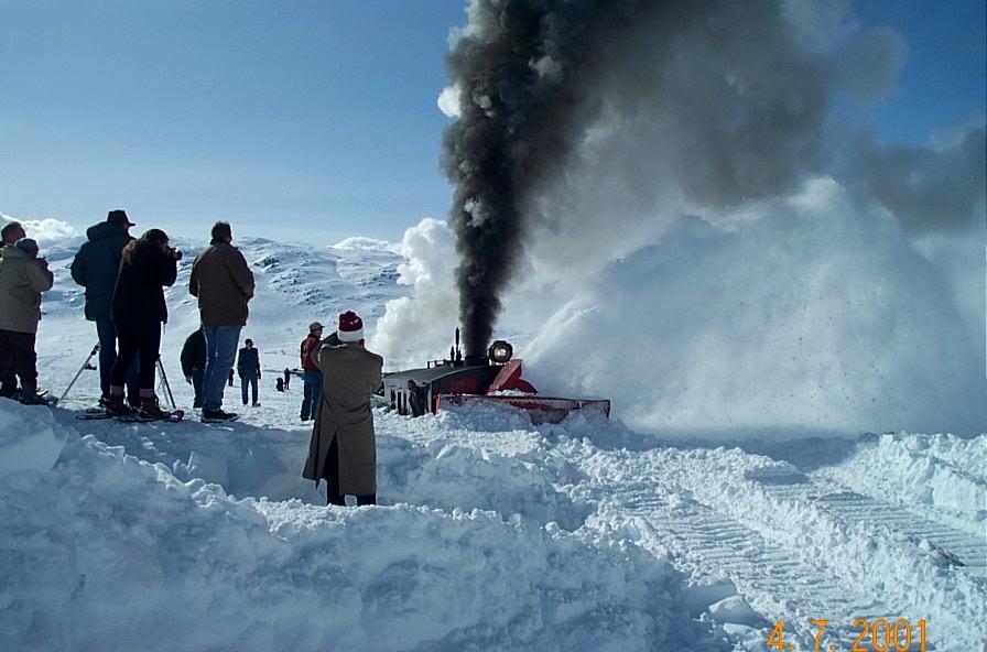 Sweden deploys vintage trains to battle the snow